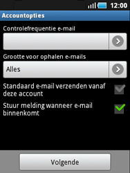 Samsung S5570 Galaxy Mini - E-mail - e-mail instellen: POP3 - Stap 12