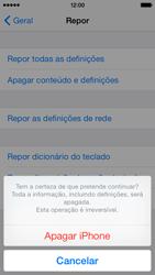 Apple iPhone 5s iOS 8 - Repor definições - Como repor definições de fábrica do telemóvel -  8