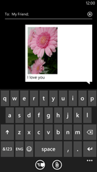 Nokia Lumia 1320 - MMS - Sending a picture message - Step 11