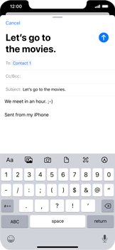 Apple iPhone 11 - Email - Sending an email message - Step 8