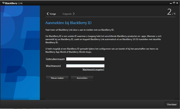 BlackBerry Leap - Software - Download en installeer PC synchronisatie software - Stap 15