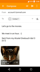 Alcatel Idol 3 (4.7) - Email - Sending an email message - Step 14