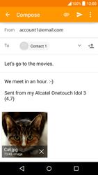 Alcatel OT-6039Y Idol 3 (4.7) - E-mail - Sending emails - Step 14