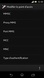 Sony C1905 Xperia M - MMS - Configuration manuelle - Étape 12