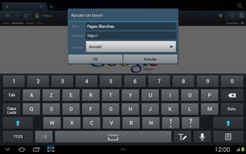 Samsung P5100 Galaxy Tab 2 10-1 - Internet - navigation sur Internet - Étape 8