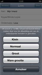 Apple iPhone 5 (iOS 6) - e-mail - hoe te versturen - stap 11