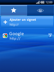 Sony Ericsson Xperia X10 Mini - Internet - Navigation sur internet - Étape 8