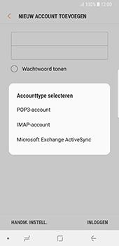 Samsung Galaxy S8 - Android Oreo - E-mail - e-mail instellen: IMAP (aanbevolen) - Stap 9