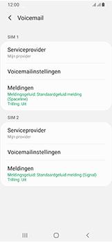 Samsung Galaxy A40 - Voicemail - handmatig instellen - Stap 10
