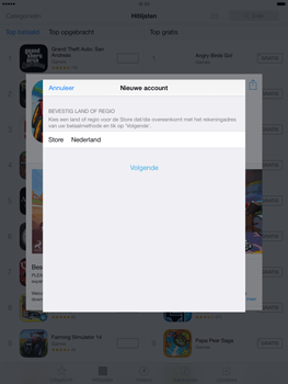 Apple iPad Mini Retina met iOS 7 - Applicaties - Account aanmaken - Stap 9