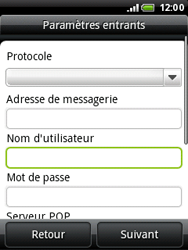 HTC A3333 Wildfire - E-mail - Configurer l