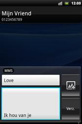 Sony Ericsson Xperia Mini Pro - MMS - hoe te versturen - Stap 9