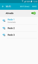 Samsung Galaxy J1 - Wi-Fi - Como configurar uma rede wi fi - Etapa 8