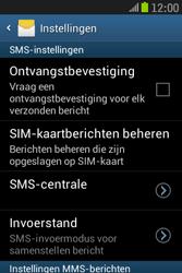 Samsung S6310 Galaxy Young - SMS - Handmatig instellen - Stap 8