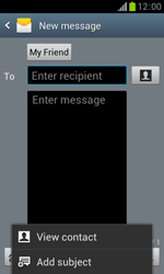 Samsung S7560 Galaxy Trend - Mms - Sending a picture message - Step 9