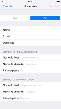 Apple iPhone 8 Plus - iOS 12 - Email - Configurar a conta de Email -  12