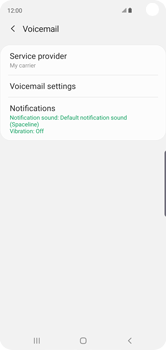Samsung Galaxy S10 - Voicemail - Manual configuration - Step 9