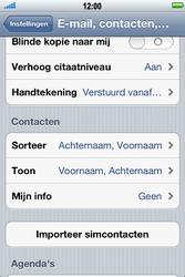Apple iPhone 4S met iOS 5 (Model A1387) - Contacten en data - Contacten kopiëren van SIM naar toestel - Stap 4