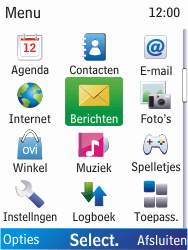 Nokia X2-00 - E-mail - Handmatig instellen - Stap 3