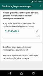 Sony Xperia Z3 Plus - Aplicações - Como configurar o WhatsApp -  8