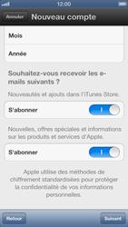 Apple iPhone 5 - Applications - Créer un compte - Étape 11