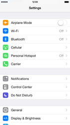 Apple iPhone 6 Plus iOS 8 - WiFi and Bluetooth - Manual configuration - Step 3