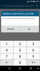 HTC Desire 626 - Sécuriser votre mobile - Personnaliser le code PIN de votre carte SIM - Étape 7