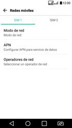 LG K4 (2017) - Red - Seleccionar una red - Paso 6