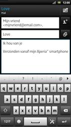 Sony LT22i Xperia P - E-mail - Hoe te versturen - Stap 9
