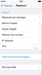 Apple iPhone 5s - Sécuriser votre mobile - Personnaliser le code PIN de votre carte SIM - Étape 4
