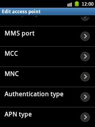 Samsung S5300 Galaxy Pocket - Internet - Manual configuration - Step 12