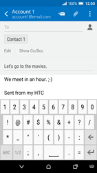 HTC One A9 - Email - Sending an email message - Step 10