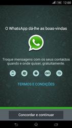 Sony Xperia E4 - Aplicações - Como configurar o WhatsApp -  5