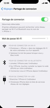 Apple iPhone X - Internet et connexion - Partager votre connexion en Wi-Fi - Étape 8