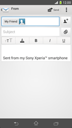 Sony Xperia Z1 Compact D5503 - Email - Sending an email message - Step 8