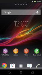 Sony C5503 Xperia ZR - Internet - Configuration manuelle - Étape 1