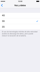 Apple iPhone SE iOS 10 - Red - Seleccionar el tipo de red - Paso 6