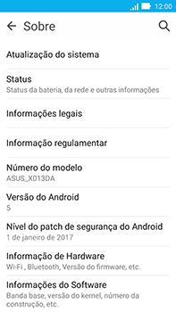 Asus Zenfone Go - Primeiros passos - Como encontrar o número de IMEI do seu aparelho - Etapa 5