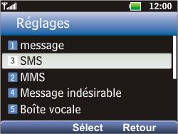 LG C360 Golf - SMS - Configuration manuelle - Étape 5