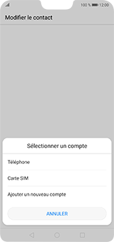 Huawei P20 lite - Contact, Appels, SMS/MMS - Ajouter un contact - Étape 4