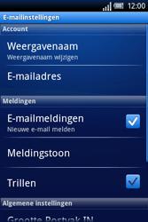 Sony Ericsson Xperia X8 - E-mail - Handmatig instellen - Stap 11