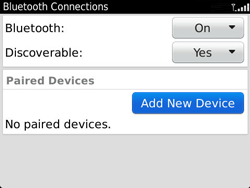 BlackBerry 9360 Curve - Bluetooth - Pair with another device - Step 7