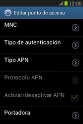 Samsung S6310 Galaxy Young - Mensajería - Configurar el equipo para mensajes multimedia - Paso 15