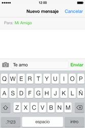 Apple iPhone 4S iOS 7 - Mensajería - Escribir y enviar un mensaje multimedia - Paso 8
