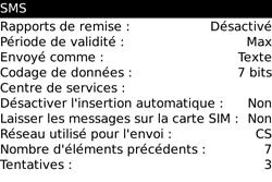 BlackBerry 9000 Bold - SMS - Configuration manuelle - Étape 5