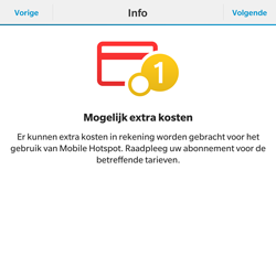 BlackBerry Passport - WiFi - Mobiele hotspot instellen - Stap 7
