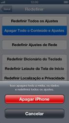 Apple iPhone iOS 6 - Funções básicas - Como restaurar as configurações originais do seu aparelho - Etapa 8
