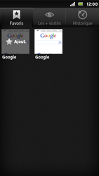 Sony ST25i Xperia U - Internet - navigation sur Internet - Étape 7