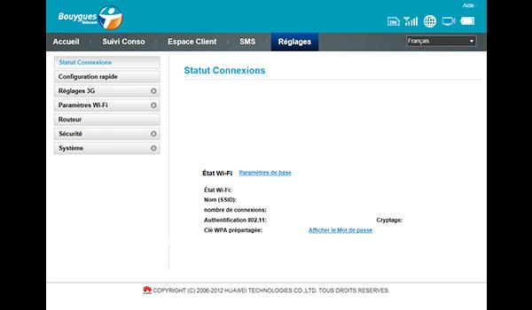 Huawei E587 - Premiers pas - Configurer l