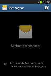 Samsung Galaxy Fame - SMS - Como configurar o centro de mensagens -  4